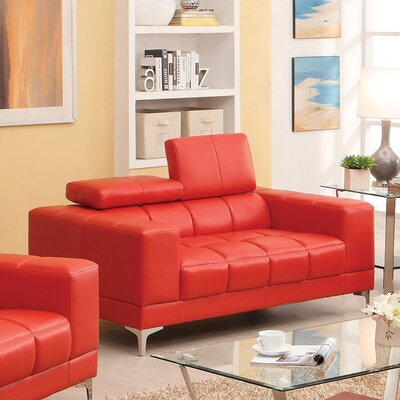JEG-7734SE-MW XHX2130 Hokku Designs Derrikke Plush Loveseat Upholstery