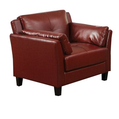 Drevan Club Chair Color: Red