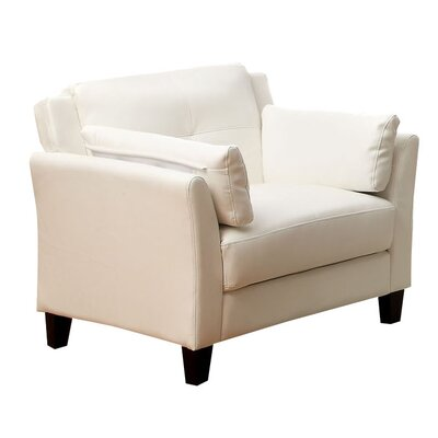 Drevan Club Chair Color: White