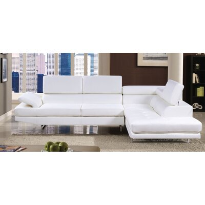 Connor Sectional Upholstery: White