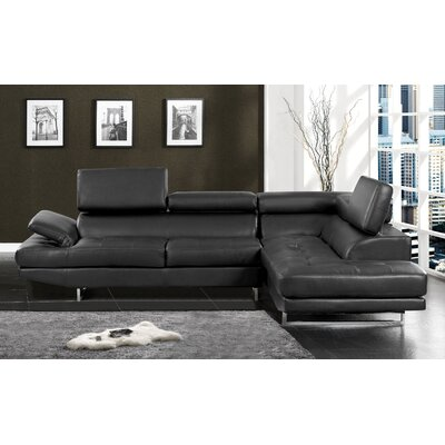 Connor Sectional Upholstery: Black
