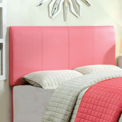 Kinnelon Upholstered Pink Panel Headboard Size: Full to Queen