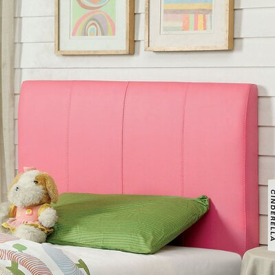 Kinnelon Upholstered Pink Panel Headboard Size: Twin
