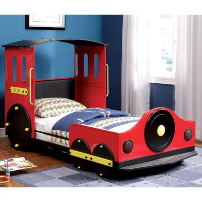 Tripton Twin Car Bed Color: Red