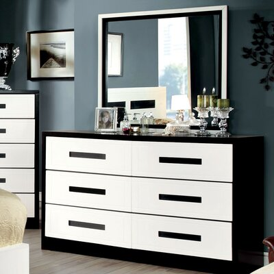 Verzaci 6 Drawer Dresser with Mirror