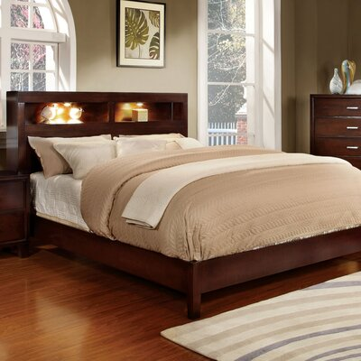 Panel Bed Finish: Brown Cherry, Size: Queen