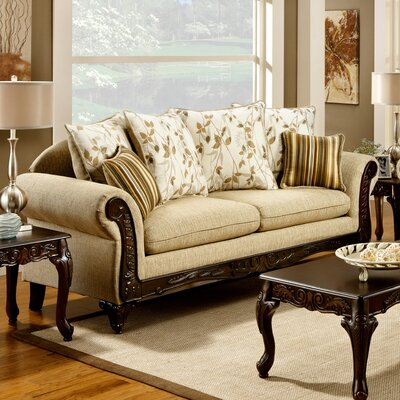 JEG-8546-TG XHX1101 Hokku Designs Aveline Cotton Sofa