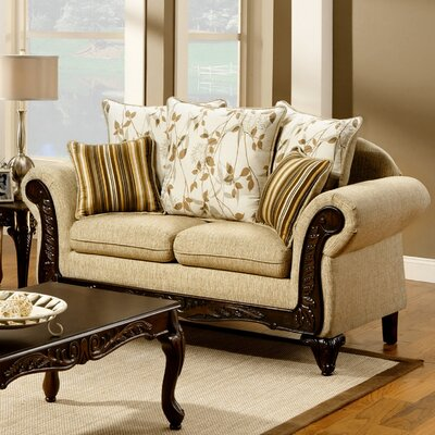 JEG-8546-MW XHX1102 Hokku Designs Aveline Cotton Loveseat