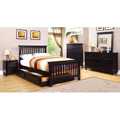 Kennedy Slat Bed Size: Twin, Finish: Black