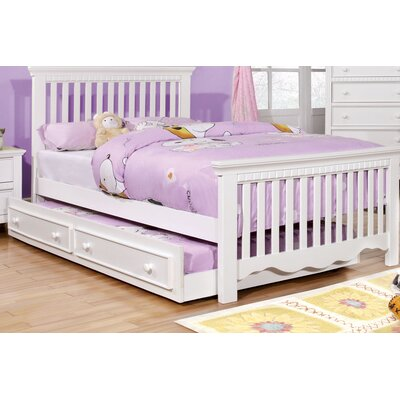 Kennedy Slat Bed Size: Full, Color: White