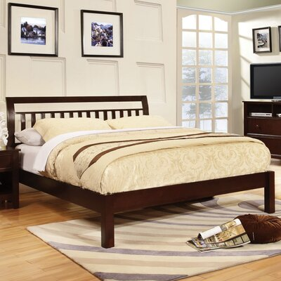 Platform Bed Finish: Dark Walnut, Size: Queen
