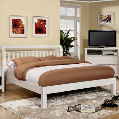 Platform Bed Size: Queen, Finish: White