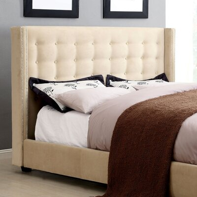 LaTish Upholstered Wingback Headboard Size: Queen