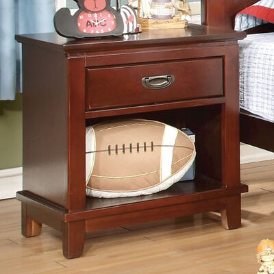 Kenneth 1 Drawer Nightstand Color: Cherry
