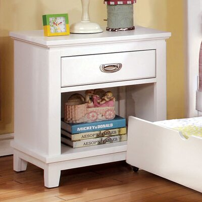 Kenneth 1 Drawer Nightstand Color: White