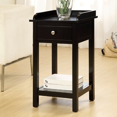 Jayda Versatile End Table Finish: Black