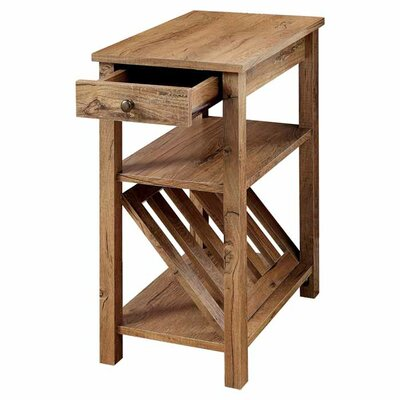 Waldon 1 Drawer End Table Finish: Rustic Oak
