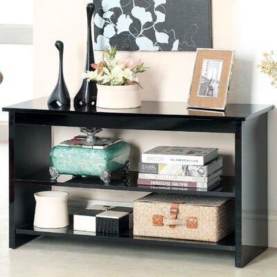 Waldon Open Shelf Console Table Finish: Black