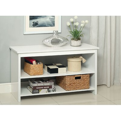 Waldon Open Shelf Console Table Finish: White