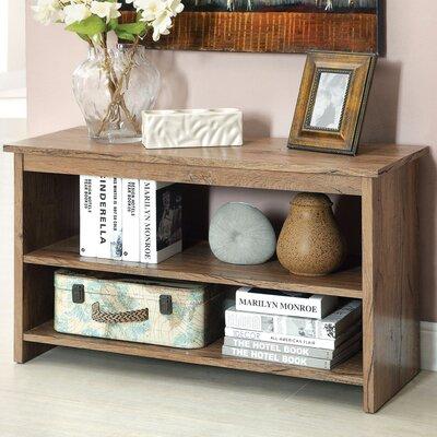 Waldon Open Shelf Console Table Finish: Rustic Oak
