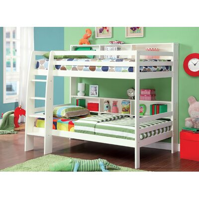 Margerie Twin Bunk Bed Finish: White