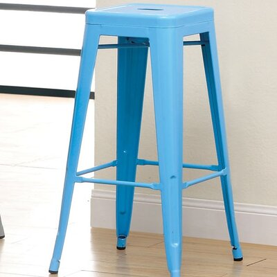 Stilletta 30 Bar Stool Upholstery: Blue