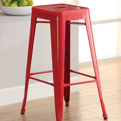 Stilletta 30 Bar Stool Upholstery: Red