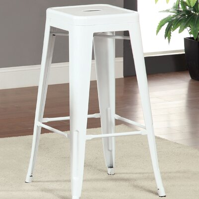 Stilletta 30 Bar Stool Upholstery: White