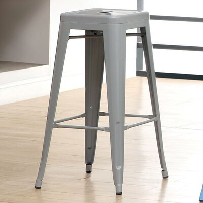 Stilletta 30 Bar Stool Upholstery: Gray