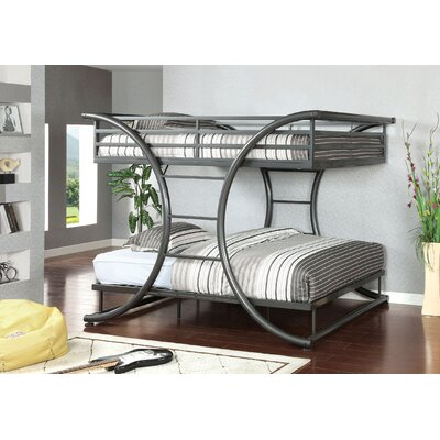 Cervia Full over Full Bunk Bed Color: Gun Metal