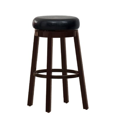 Trixie 29 Swivel Bar Stool Upholstery: Black