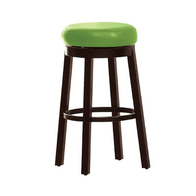 Trixie 29 inch Swivel Bar Stool Upholstery: Green