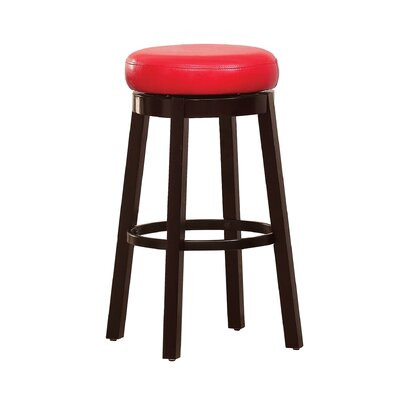 Trixie 29 Swivel Bar Stool Upholstery: Red