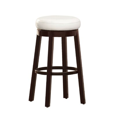 Trixie 29 Swivel Bar Stool Upholstery: White