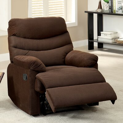 Jemisse Casual Recliner Upholstery: Brown
