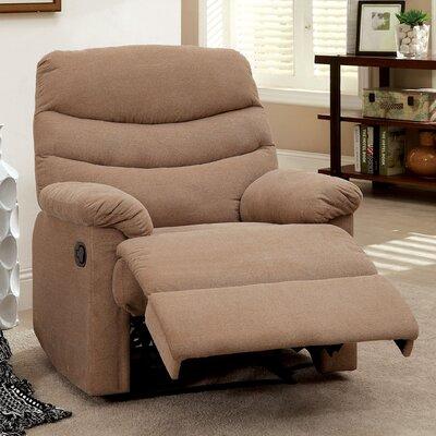 Jemisse Casual Recliner Upholstery: Mocha
