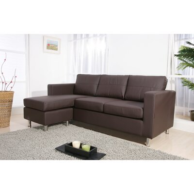 Horizon Sectional Upholstery: Chocolate Brown