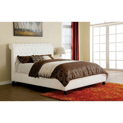 Brighton Upholstered Platform Bed Size: Queen
