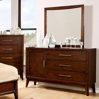 Dionn 3 Drawer Combo Dresser with Mirror
