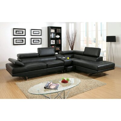 Derrikke Sectional Upholstery: Black