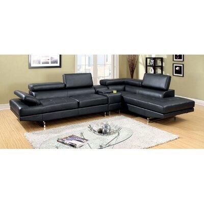 Derrikke Sectional Upholstery: Black