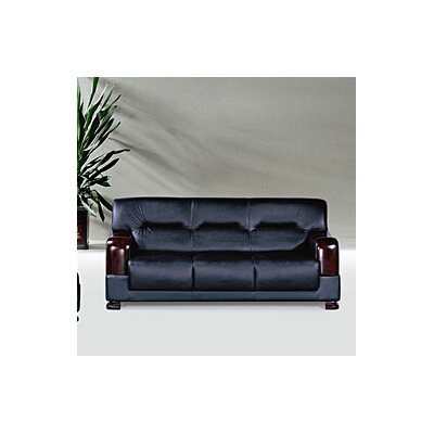Tourmaline Leather Sofa Upholstery: Black