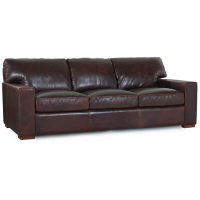Hokku Designs 66003 Grandeur Brussels Grain Leather Sofa