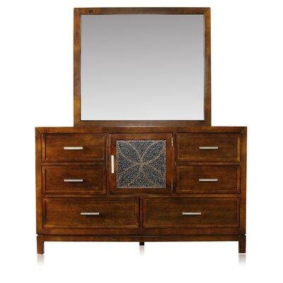 Savannah 6 Drawer Combo Dresser with Mirror