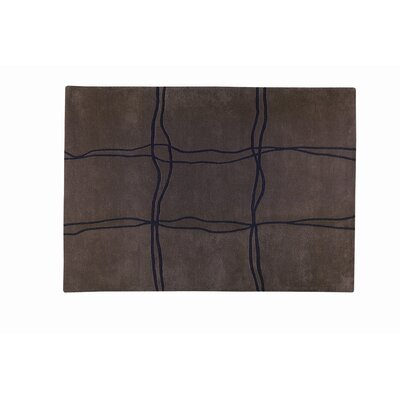Ticta Brown Area Rug Rug Size: 9 x 12