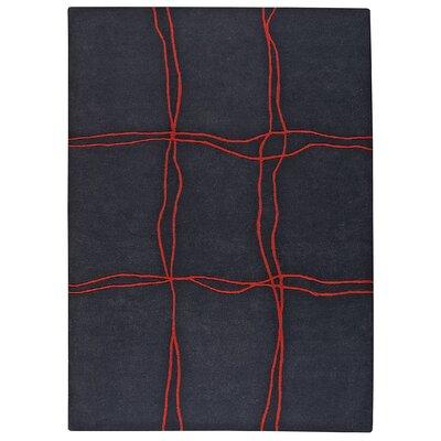 Ticta Charcoal Area Rug Rug Size: 83 x 116