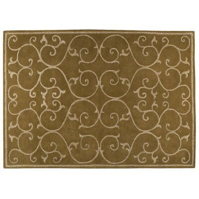 Nepal Olive Green Area Rug Rug Size: Rectangle 83 x 116
