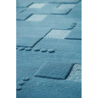Doral Blue Area Rug Rug Size: Rectangle 66 x 99