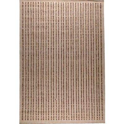 Roark Beige Solid Area Rug Rug Size: 46 x 66