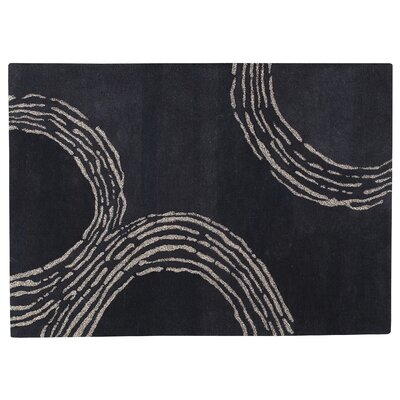 Ripple Charcoal Area Rug Rug Size: 83 x 116
